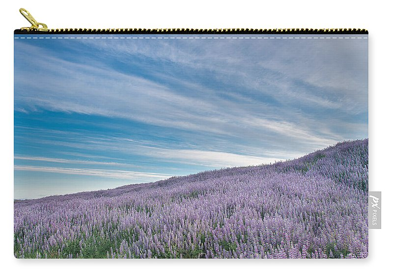 Lupine Carry-all Pouch featuring the photograph Fields Of Lupine 1 by Greg Nyquist