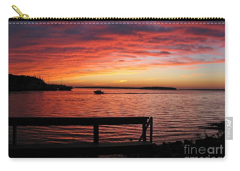 Sunset Carry-all Pouch featuring the photograph Fiery Afterglow by Ann Horn