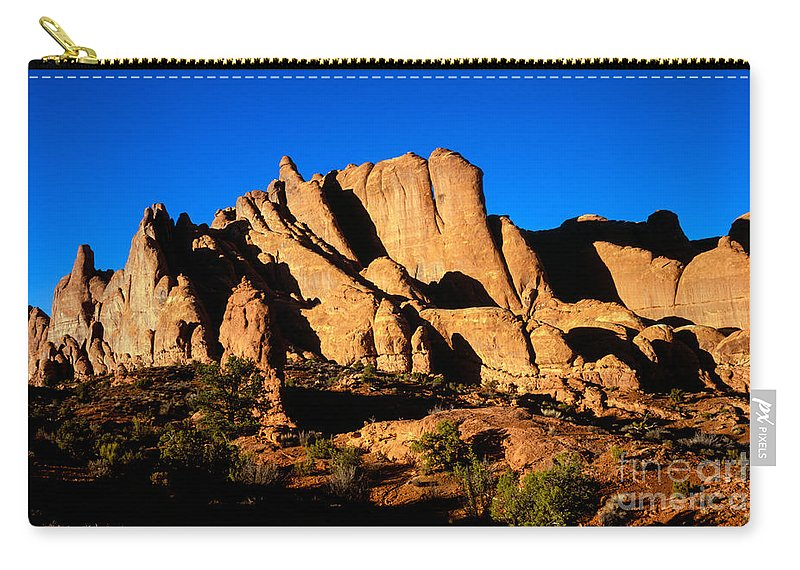 Arches National Park Carry-all Pouch featuring the photograph Fiery Fins by Tracy Knauer