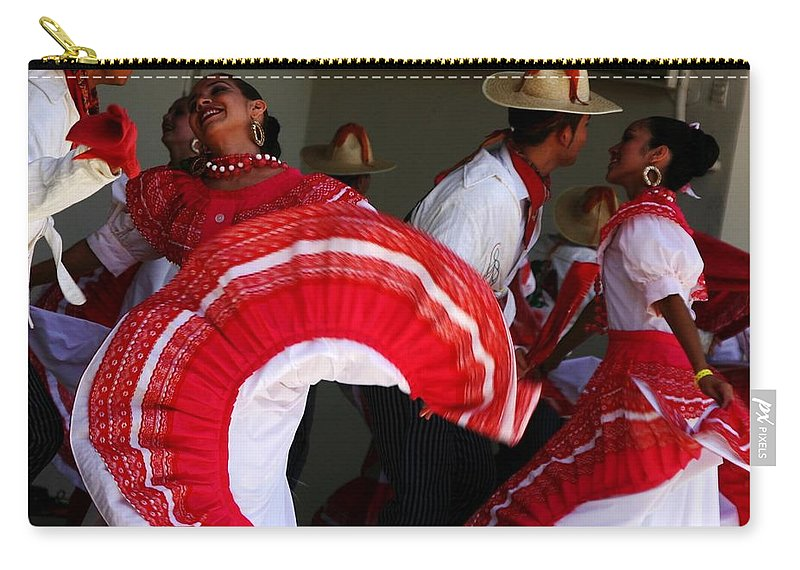 Dancers Carry-all Pouch featuring the photograph Fiesta De Los Mariachis by Joe Kozlowski