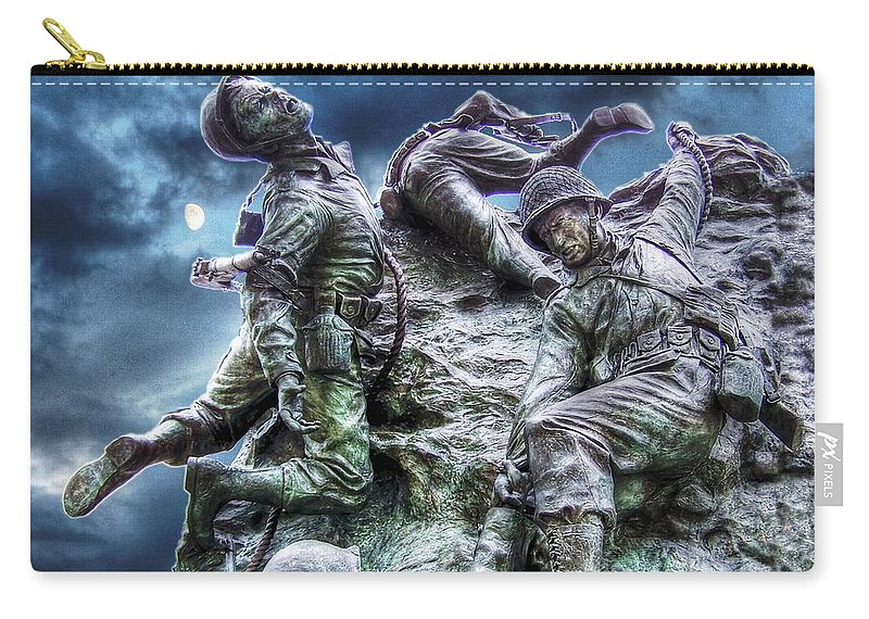 Freedom Carry-all Pouch featuring the photograph Fight On by Dan Stone