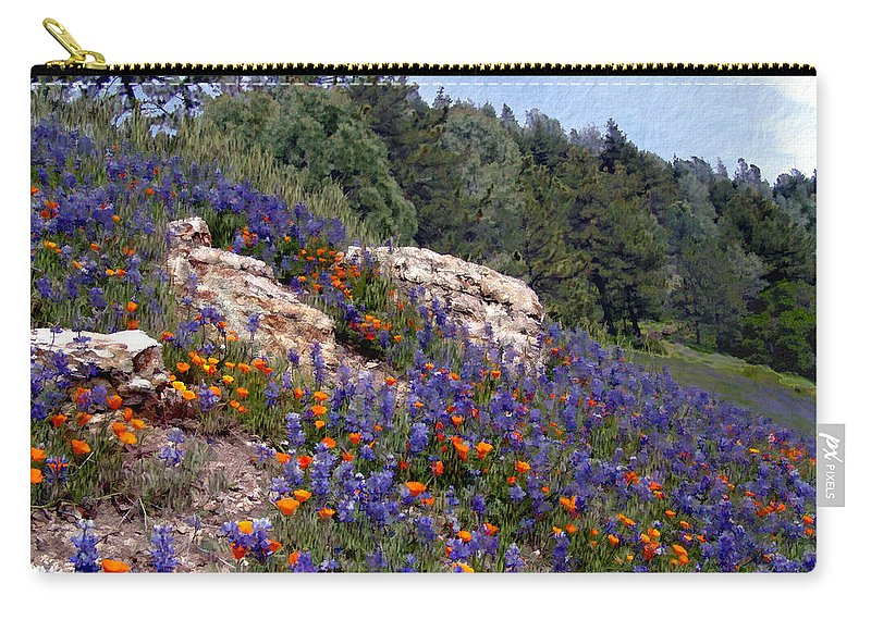 Flowers Carry-all Pouch featuring the photograph Figueroa Mountain Splendor by Kurt Van Wagner