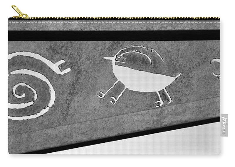 Rock Art Figures Carry-all Pouch featuring the photograph Figures From The Past by David Lee Thompson