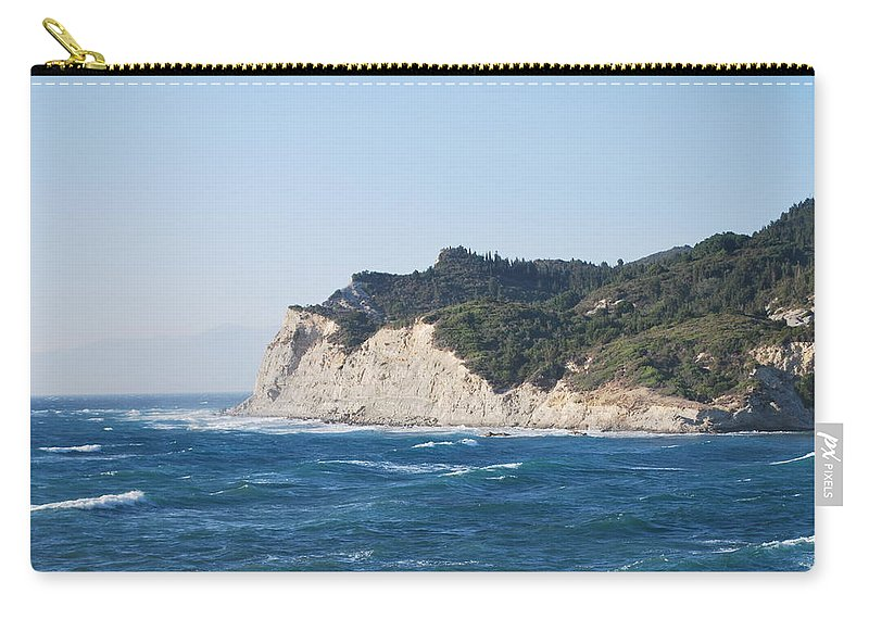 Fiki Bay Carry-all Pouch featuring the photograph Fiki Bay 2 by George Katechis