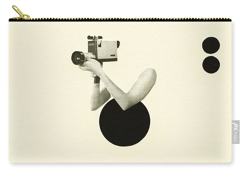 Film Noir Carry-all Pouch featuring the mixed media Film Noir by Cassia Beck