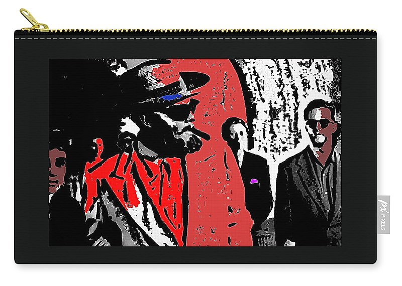 Film Noir Orson Welles Mr. Arkadin 1955 Color Added 2012 Carry-all Pouch featuring the photograph Film Noir Orson Welles Mr. Arkadin 1955 Color Added 2012 by David Lee Guss