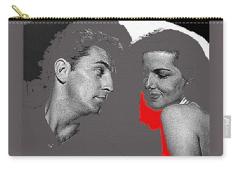 Film Noir Robert Mitchum Jane Russell His Kind Of Woman 1951 Rko Color Added 2012 Carry-all Pouch featuring the photograph Film Noir Robert Mitchum Jane Russell His Kind Of Woman 1951 Rko Color Added 2012 by David Lee Guss