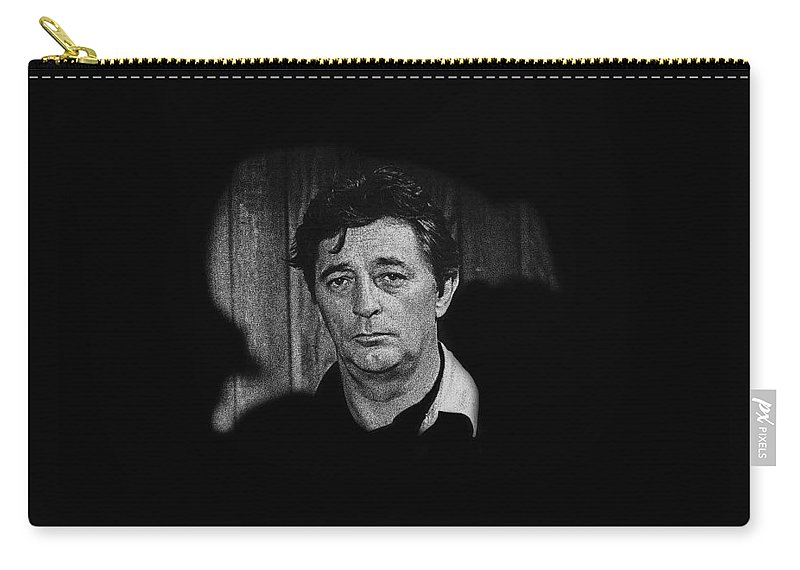 Film Noir The King Of Noir Robert Mitchum Young Billy Young Set Old Tucson Arizona 1968 Carry-all Pouch featuring the photograph Film Noir The King Of Noir Robert Mitchum Young Billy Young Set Old Tucson Arizona 1968 by David Lee Guss