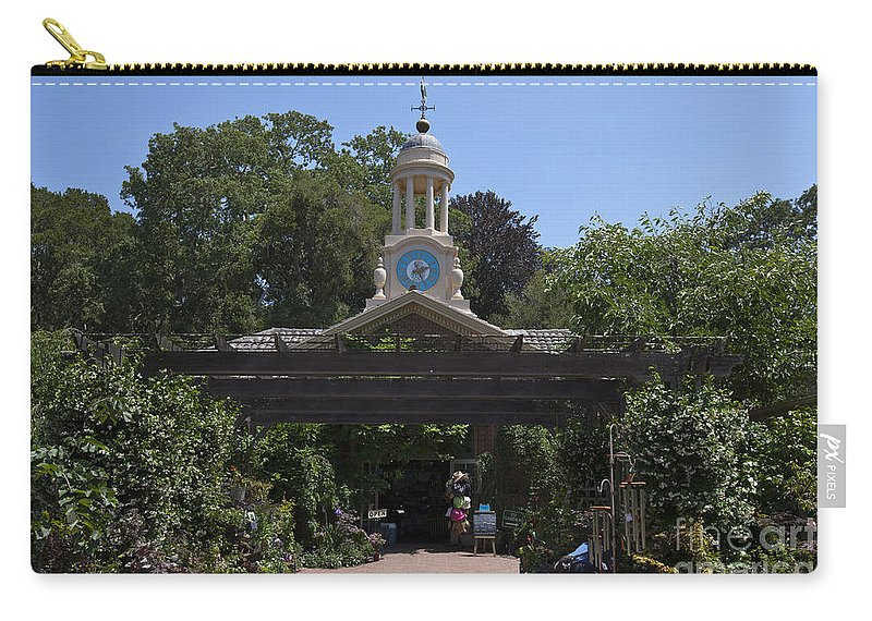 Filoli Carry-all Pouch featuring the photograph Filoli Clock Tower Garden Shop by Jason O Watson