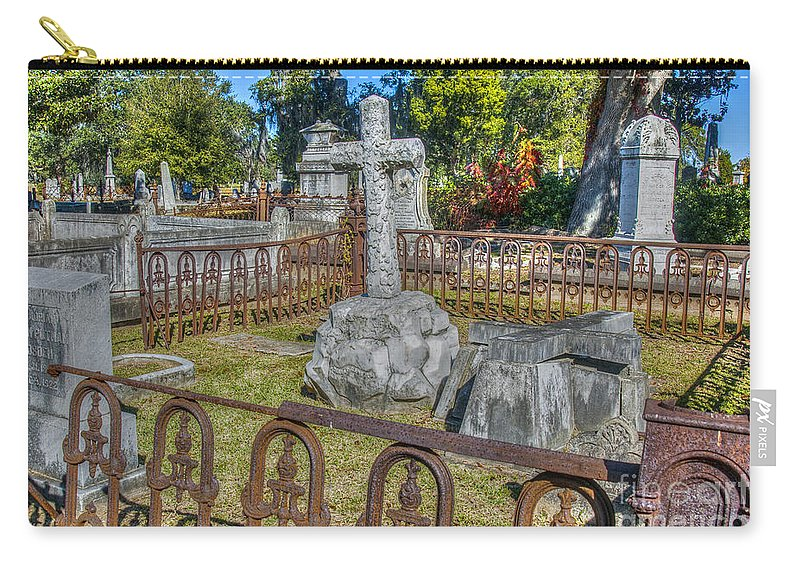 Stone Cross Carry-all Pouch featuring the photograph Stone Cross by Dale Powell