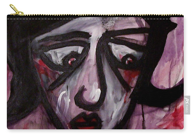 Portait Carry-all Pouch featuring the painting Finals by Thomas Valentine