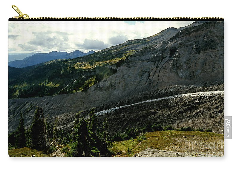 Mount Rainier Carry-all Pouch featuring the photograph Finger Of Nisqualy by Sharon Elliott