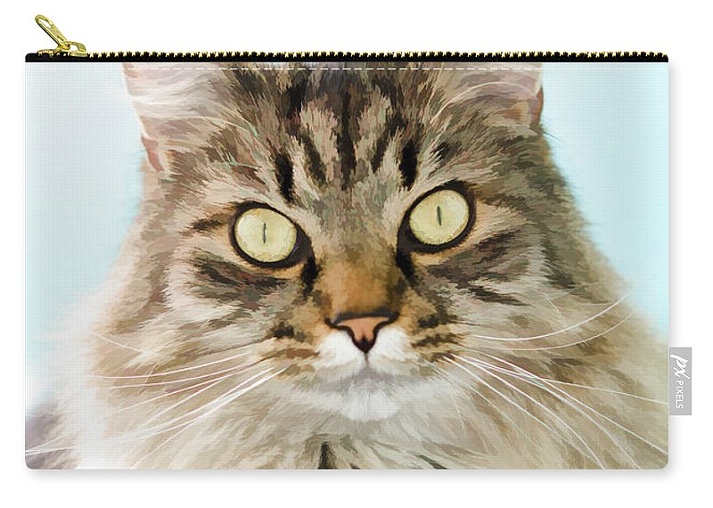 Animal Carry-all Pouch featuring the photograph Finn by Donna Doherty