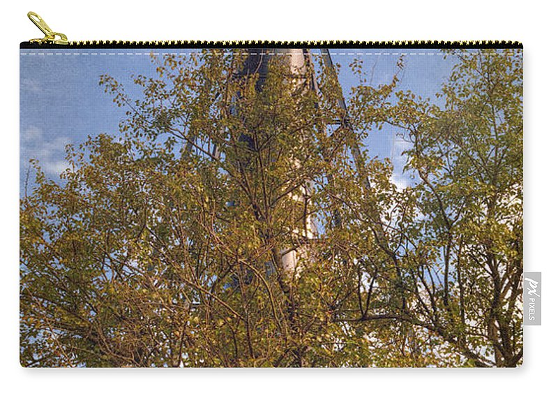 Joan Carroll Carry-all Pouch featuring the photograph Finns Point Rear Range Light by Joan Carroll