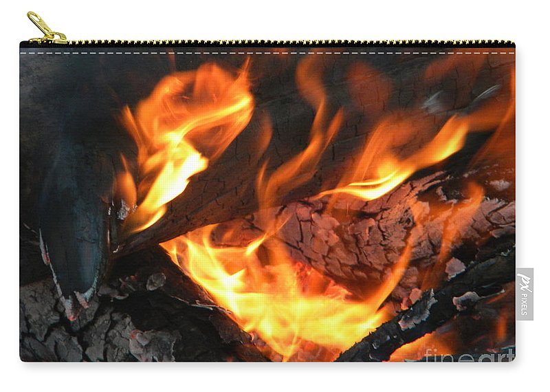 Close Carry-all Pouch featuring the photograph Fire 1 by Nathanael Smith