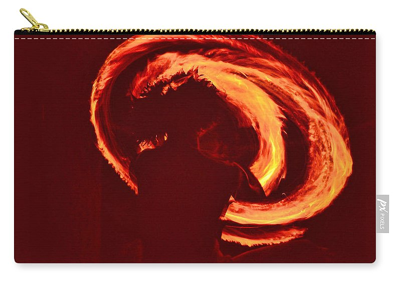Sunrise Carry-all Pouch featuring the photograph Fire by Athala Carole Bruckner