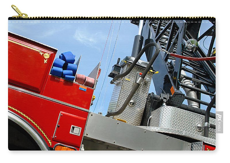 Fire Carry-all Pouch featuring the photograph Fire Engine by Olivier Le Queinec