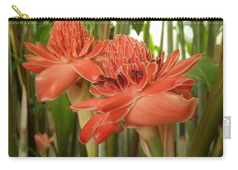 Carry-all Pouch featuring the photograph Fire Flowers by Katerina Naumenko