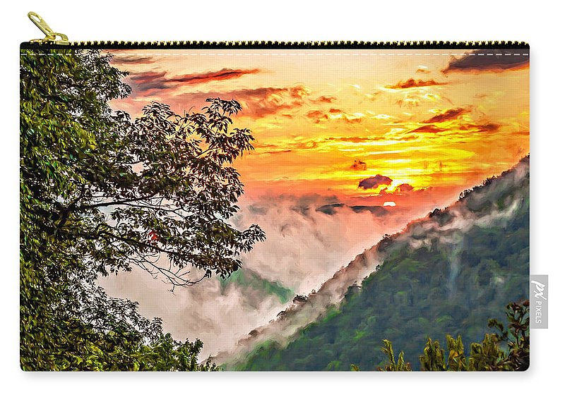 Babcock State Park Carry-all Pouch featuring the photograph Fire In The Hole - Painted by Steve Harrington