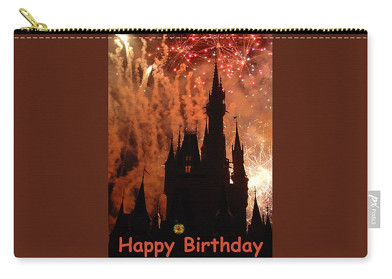 Greetings Card Carry-all Pouch featuring the photograph Fire In The Sky by David Nicholls
