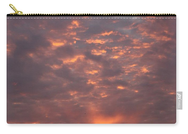 Sunset Carry-all Pouch featuring the photograph Fire In The Sky by Linsey Williams