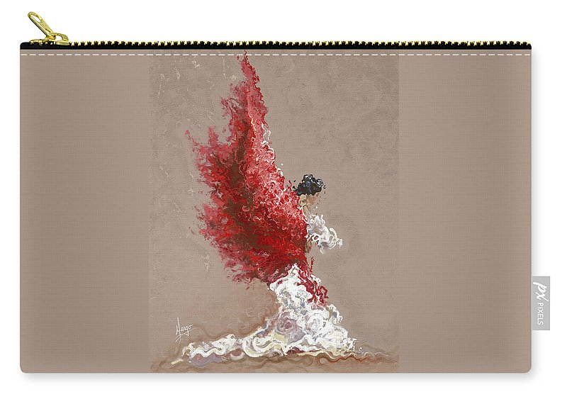 Dance Carry-all Pouch featuring the painting Fire by Karina Llergo