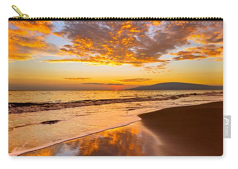 Beach Carry-all Pouch featuring the photograph Fire Over Lahaina by Jamie Pham
