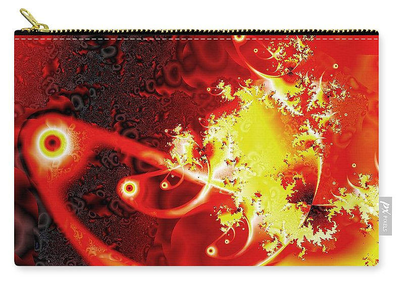 Abstract Carry-all Pouch featuring the digital art Firebirds by Anastasiya Malakhova