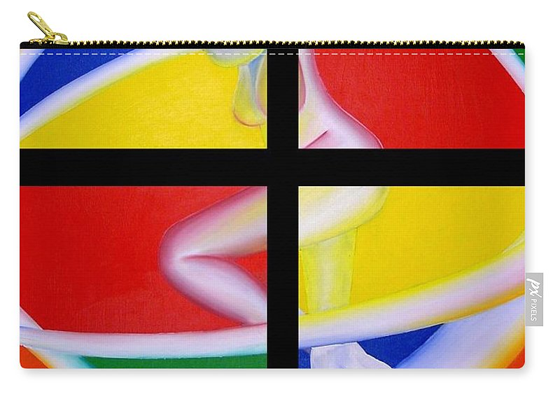 Firedancer Carry-all Pouch featuring the painting Firedancer by Joshua Morton