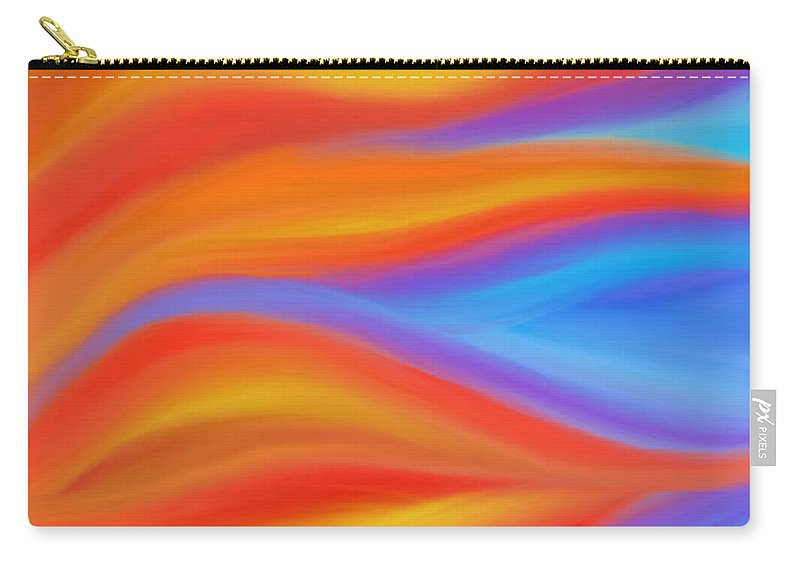 Fire Carry-all Pouch featuring the painting Firelight by Daina White