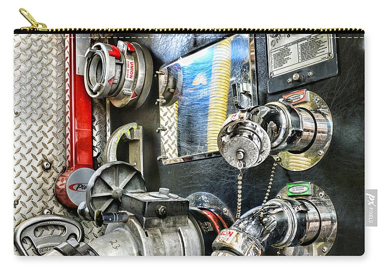 Fireman Carry-all Pouch featuring the photograph Fireman - Control Panel by Paul Ward