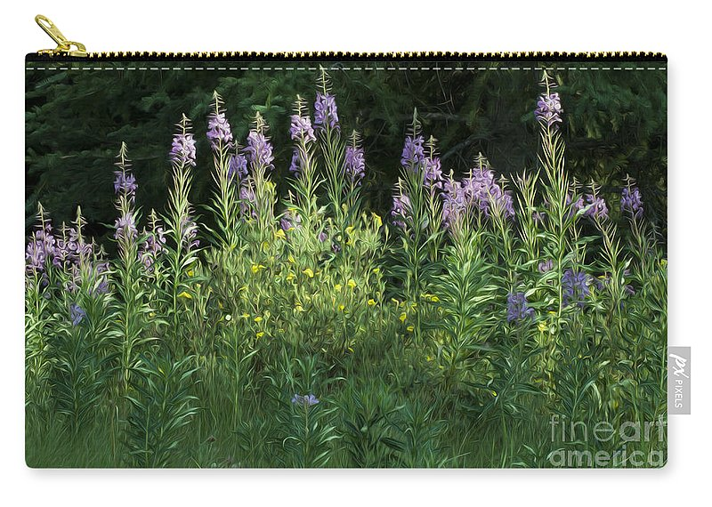 Fire Weed Carry-all Pouch featuring the photograph Fireweed by Vivian Christopher