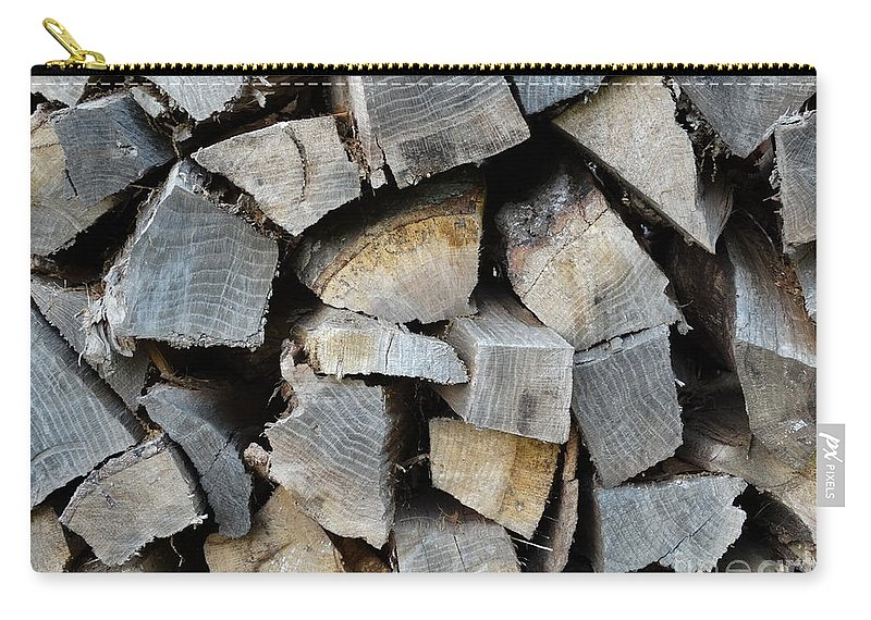 Wood Carry-all Pouch featuring the photograph Firewood by Joseph Baril