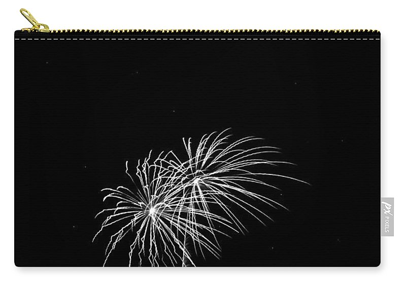 Addison Kaboom Carry-all Pouch featuring the photograph Firework Palm Trees by Darryl Dalton