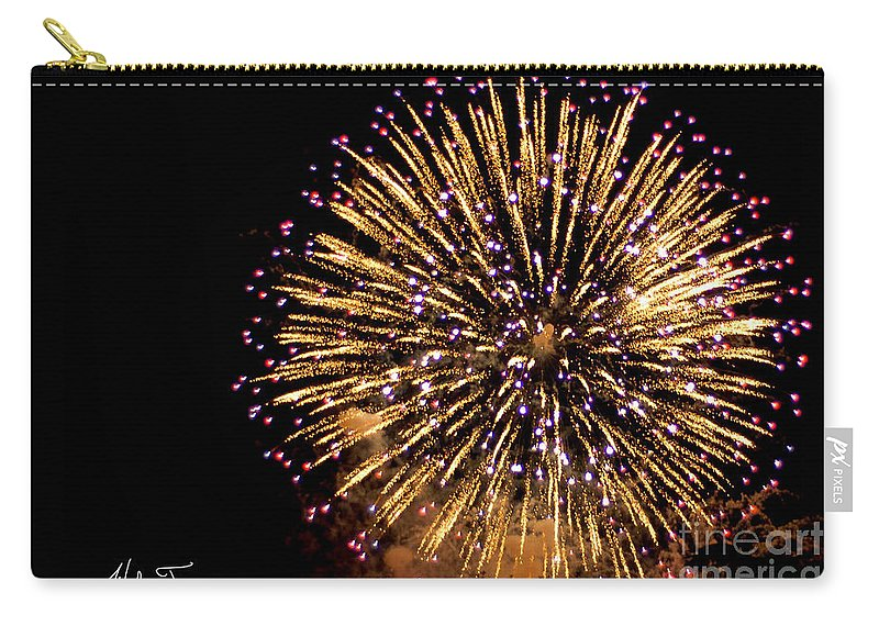 Fireworks Carry-all Pouch featuring the photograph Fireworks 2014 10 by Wesley Farnsworth
