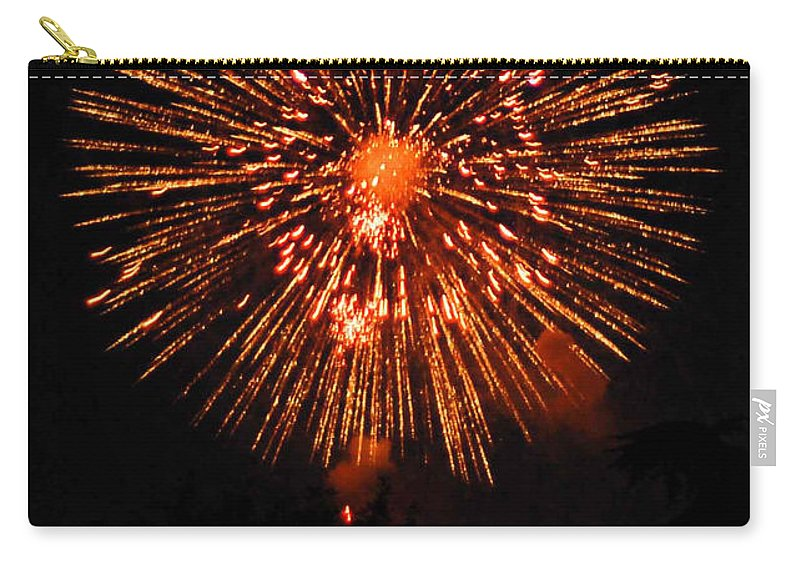 Fireworks Carry-all Pouch featuring the photograph Fireworks 2014 13 by Wesley Farnsworth