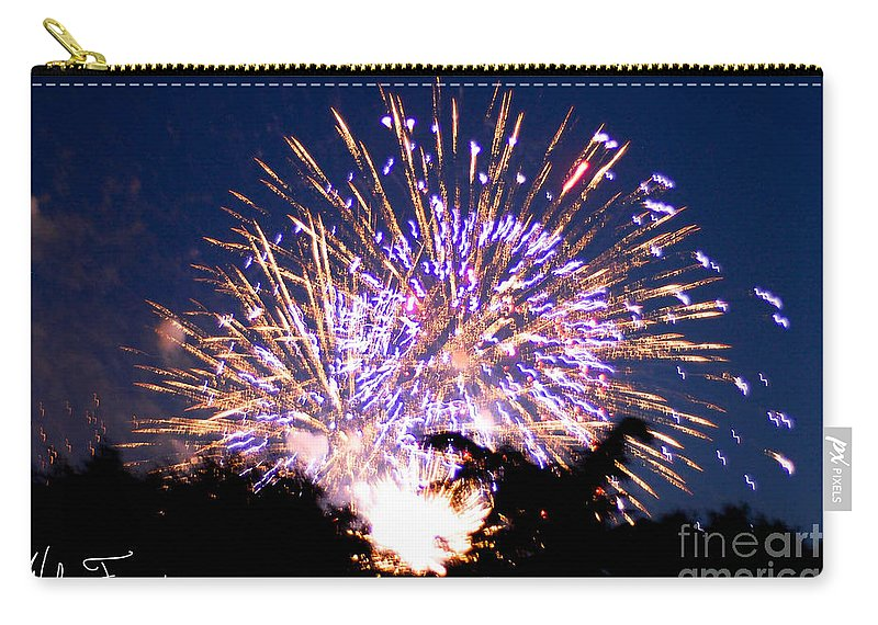 Fireworks Carry-all Pouch featuring the photograph Fireworks 2014 6 by Wesley Farnsworth