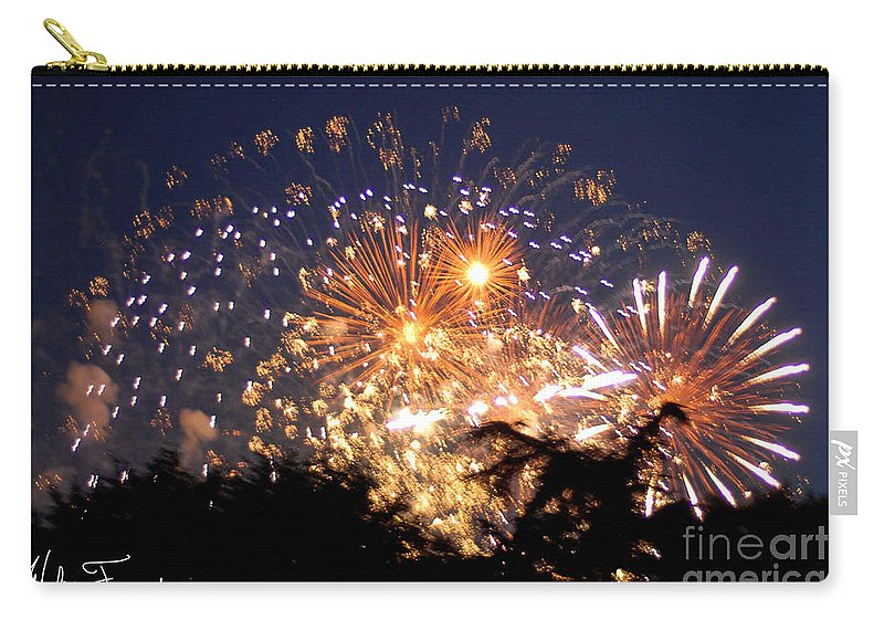 Fireworks Carry-all Pouch featuring the photograph Fireworks 2014 7 by Wesley Farnsworth