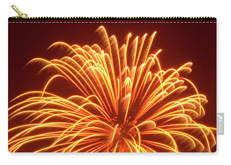 Orange Color Carry-all Pouch featuring the photograph Fireworks by Dennis Mccoleman