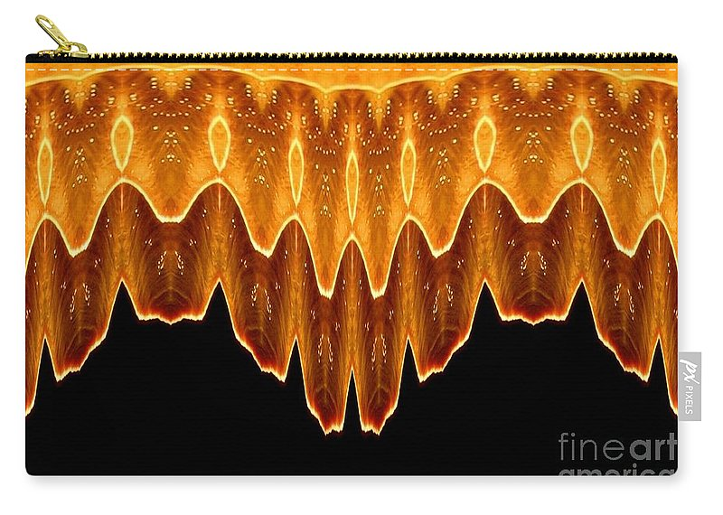 Fireworks Carry-all Pouch featuring the photograph Fireworks Melting Abstract by Rose Santuci-Sofranko