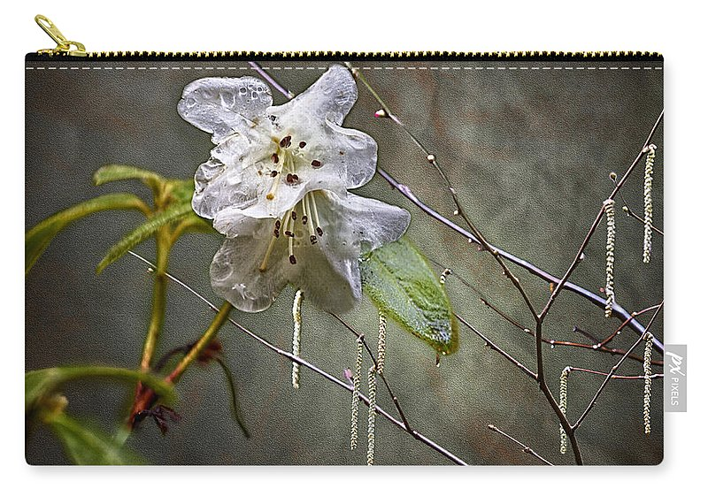Azalea Carry-all Pouch featuring the photograph First Blush by Belinda Greb