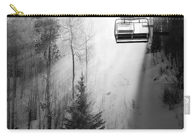 Vail Carry-all Pouch featuring the photograph First Chair by Sean McClay