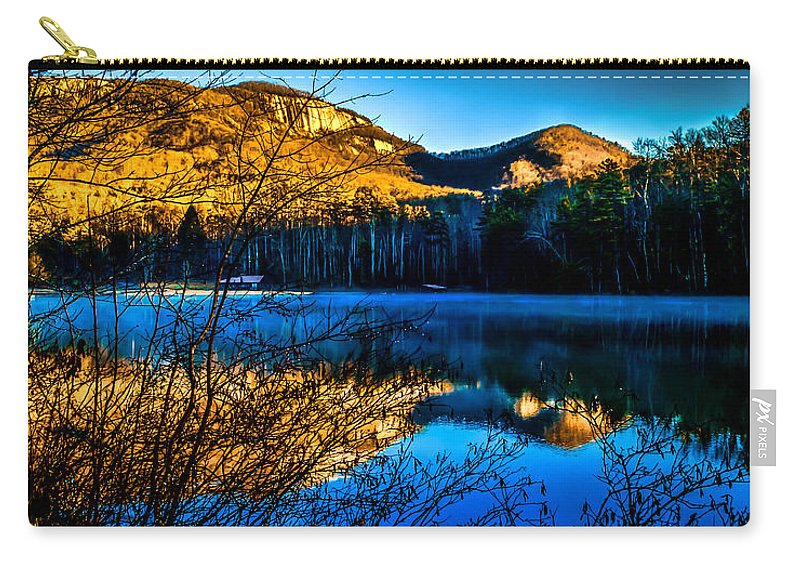Optical Playground By Mp Ray Carry-all Pouch featuring the photograph First Light At Pinnacle Lake by Optical Playground By MP Ray