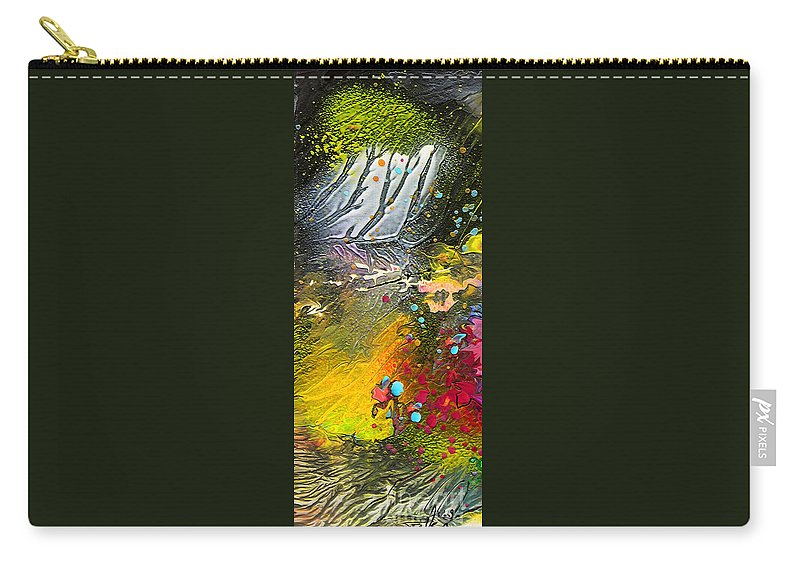 Miki Carry-all Pouch featuring the painting First Light by Miki De Goodaboom