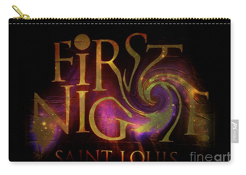 Carry-all Pouch featuring the photograph First Night St. Louis In Space by Kelly Awad