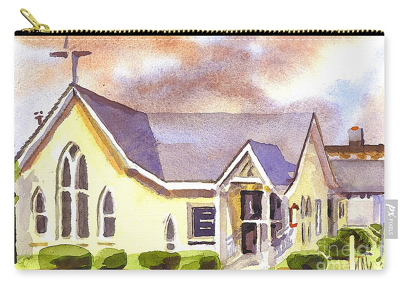 First Presbyterian Church Ironton Missouri Carry-all Pouch featuring the painting First Presbyterian Church Ironton Missouri by Kip DeVore