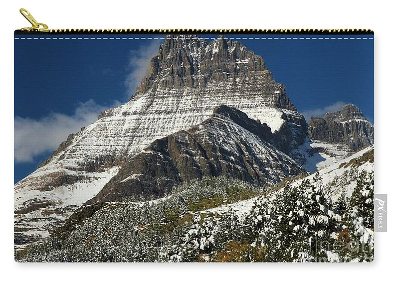 Mt Wilbur Carry-all Pouch featuring the photograph First Snow At Mount Wilbur by Adam Jewell