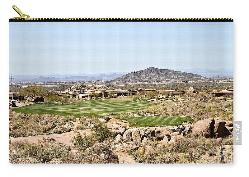 Golf Carry-all Pouch featuring the photograph First Tee by Scott Pellegrin