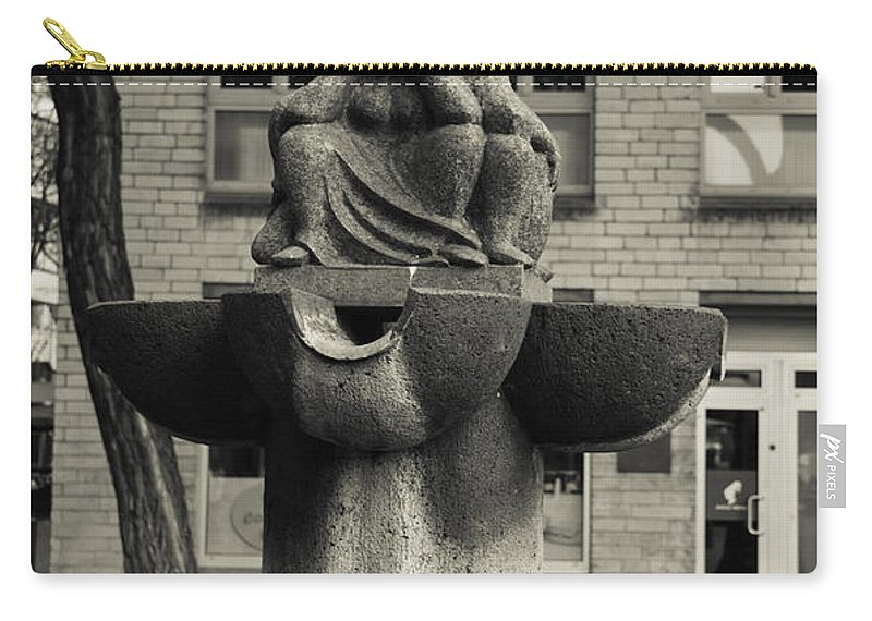2014 Carry-all Pouch featuring the photograph Fish Fountain Cologne by Teresa Mucha