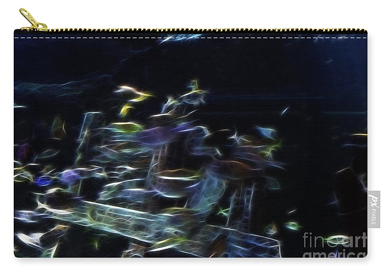 Horizontal Carry-all Pouch featuring the photograph Fish In Aquarium by Doc Braham